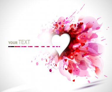 Raster version of greeting-card with The Valentine's day clip art vector