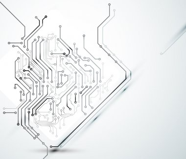 Abstract background of modern digital technologies