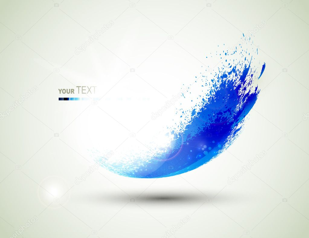 Abstract blue flying blob