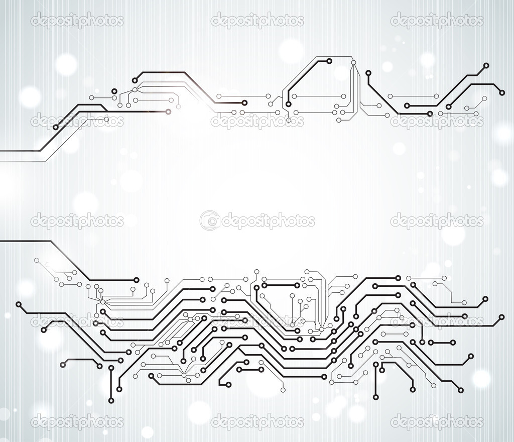 Abstract background of modern digital technologies stock vector