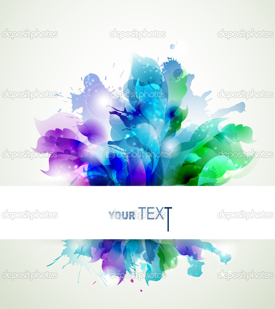 Abstract background with blue, pink and green elements