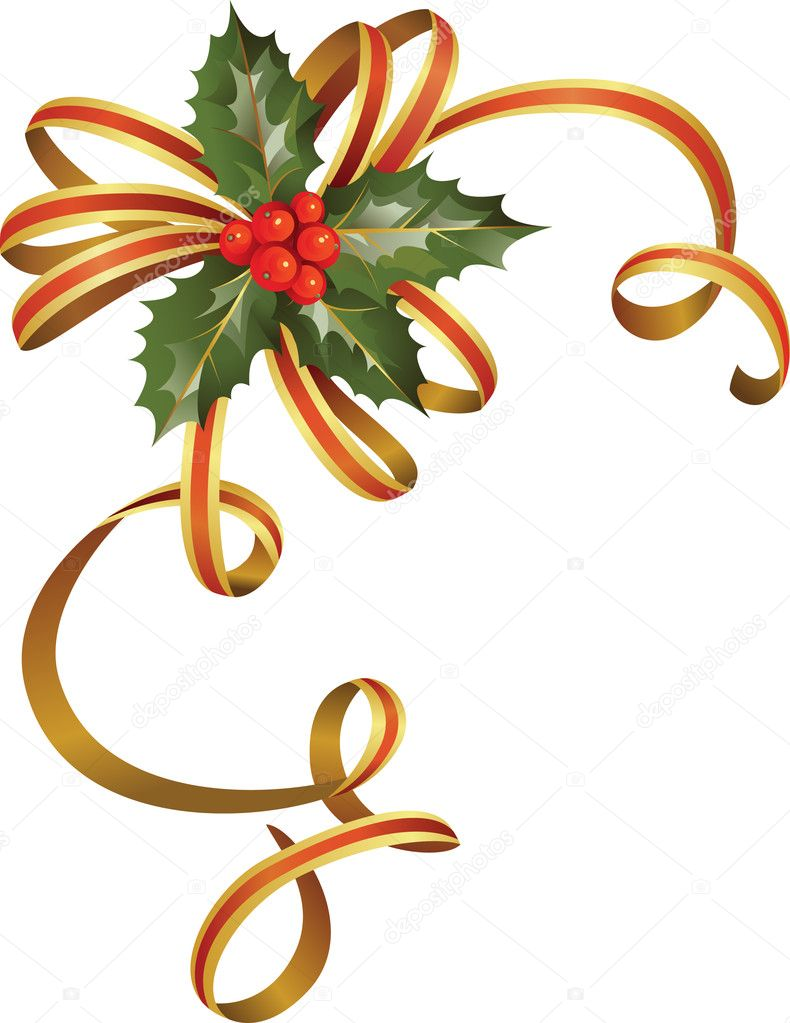 Christmas Holly Tree Part - 46: Nice Christmas Holly Tree U2014 Stock Vector #11948955