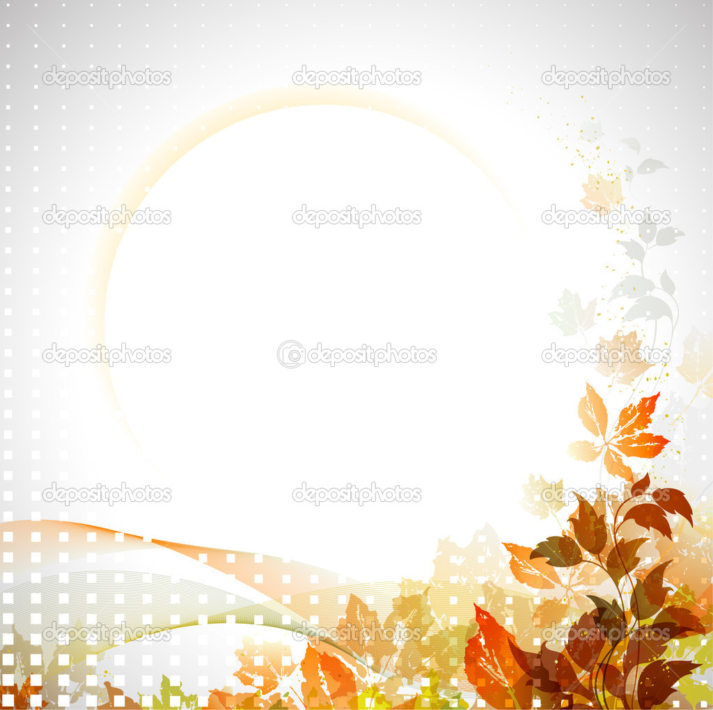 Autumn composition with place for text