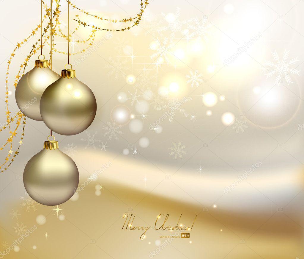 Sfondi Natalizi Eleganti.Sfondi Eleganti Natale Elegante Sfondo Di Natale Con Tre Palle Di