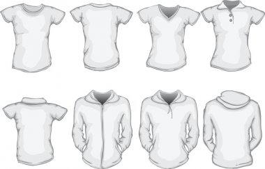 Women's white shirts template