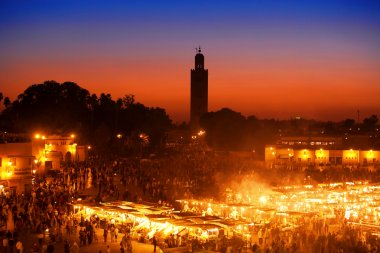 The Djemma el fna square in Marrakesh