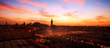 Marrakesh in sunset
