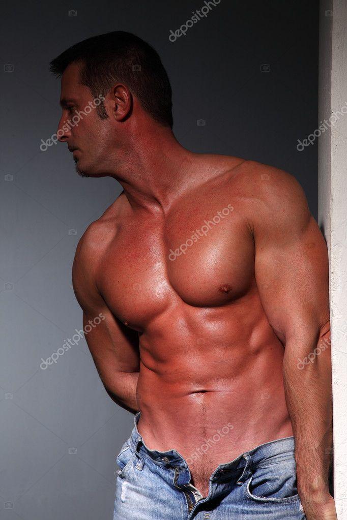 Brust-Muskel-Mann — Stockfoto © lucaph #12301131