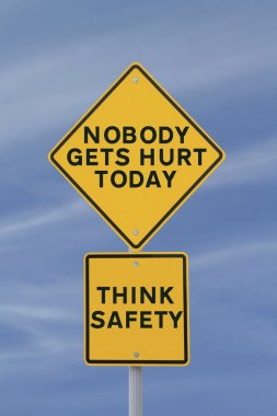 Road sign highlighting the importance of safety in the workplace stock vector