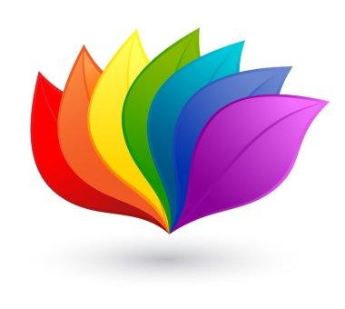 Nature design element in rainbow colors