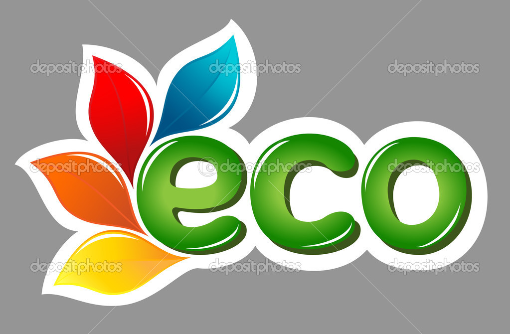 Eco sign with leafs