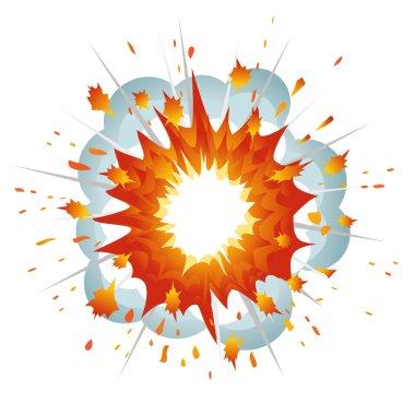 Explosion. Vector-Illustration