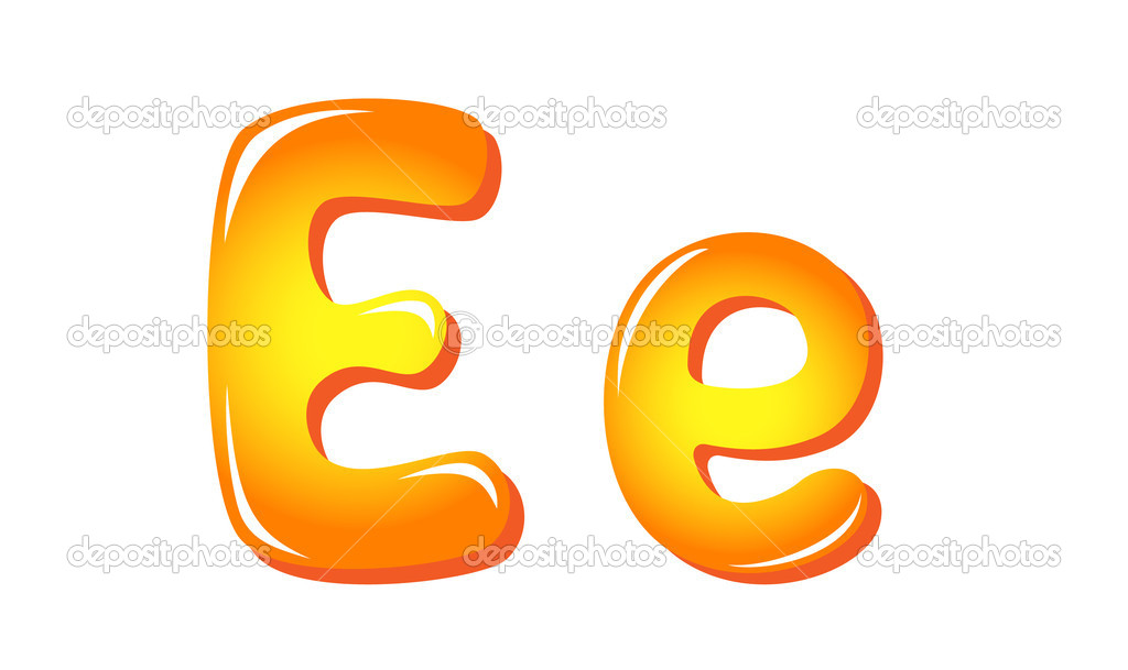 Alphabet Buchstaben in Sonne Farben e — Stockvektor © tatus #11945490