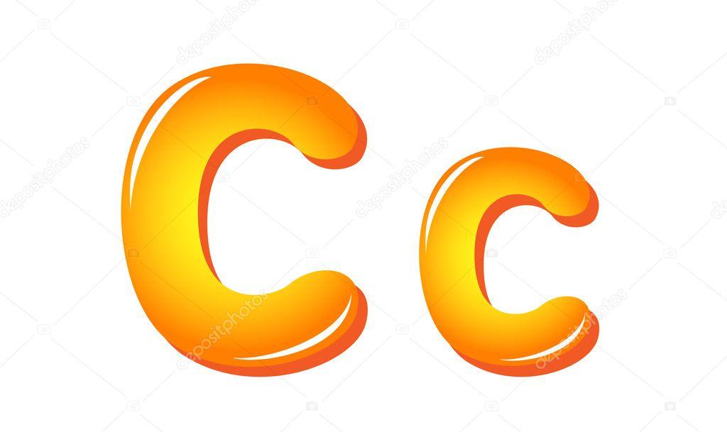 Alphabet Buchstaben in Sonne Farben c — Stockvektor © tatus #11945493