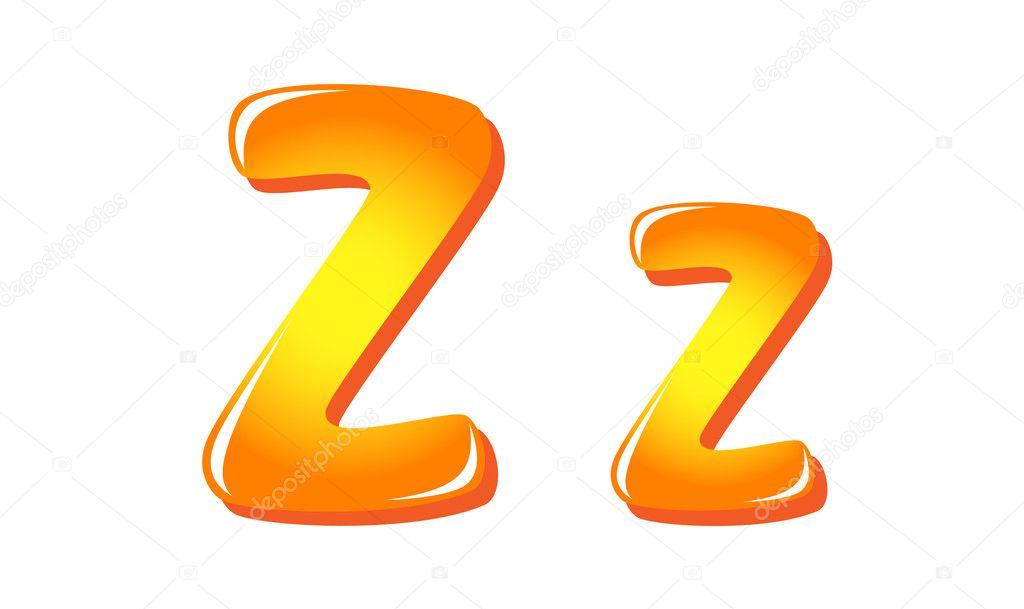 Alphabet Buchstaben in Sonne Farben z — Stockvektor © tatus #11945530