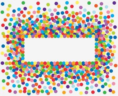 Colorful confetti frame. Vector Illustration clip art vector