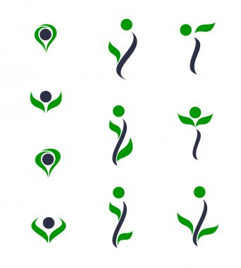 Set of logos - plant. Vector-Illustration