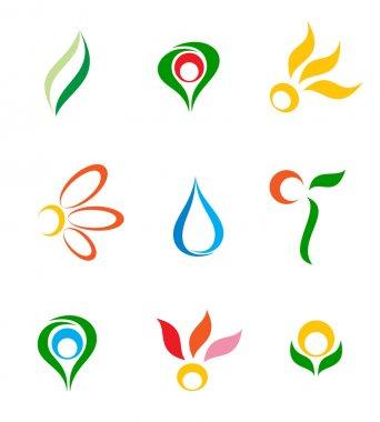 Set of logos. Vector-Illustration