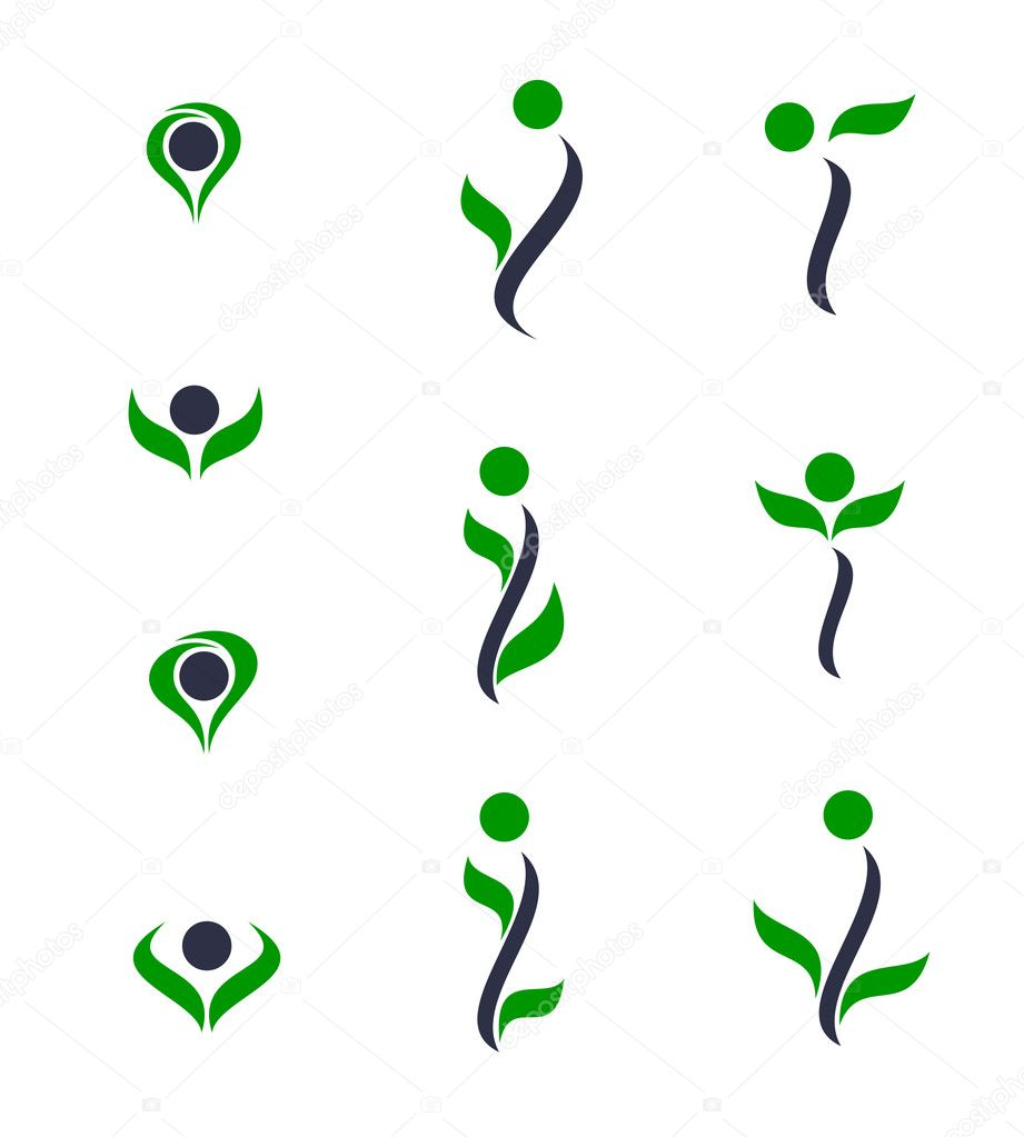 Set of logos - plant. Vector-Illustration