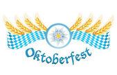 Oktoberfest Feier entwerfen mit Edelweiß und Weizen Ohren