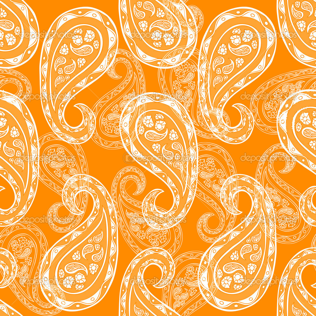 Abstract paisley background, fashion seamless pattern