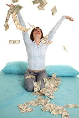 Throwing money air