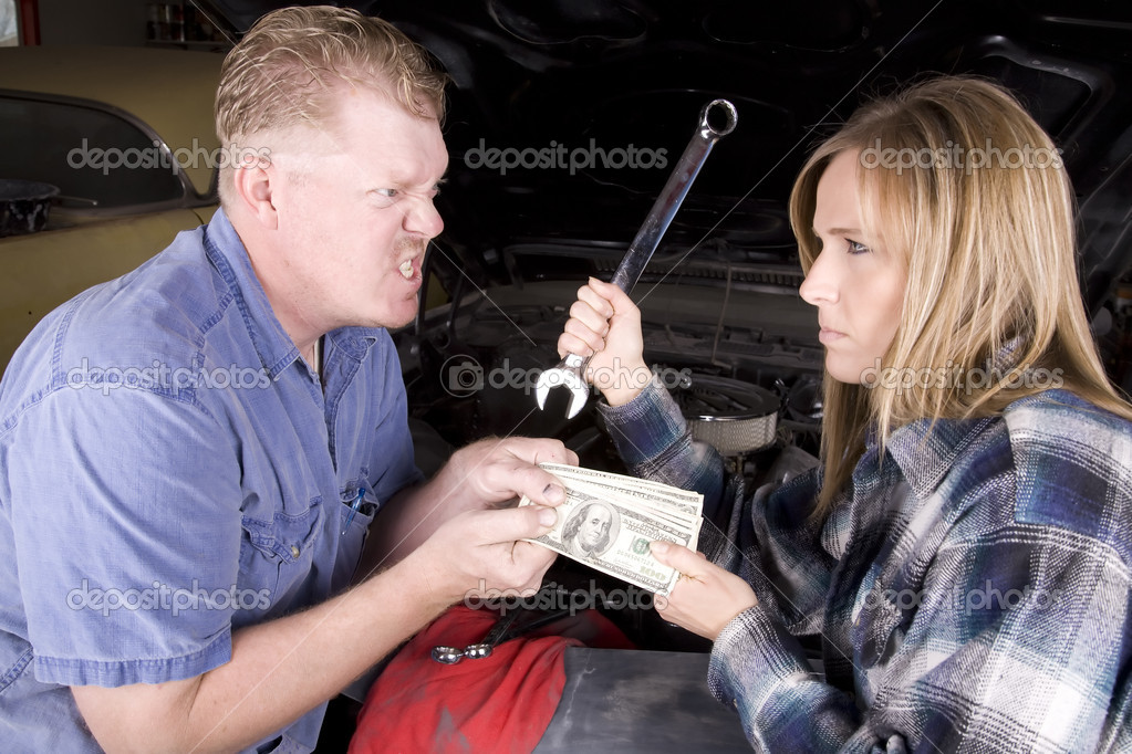 Give money with wrench