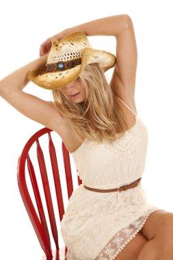 Cowgirl hide eyes chair