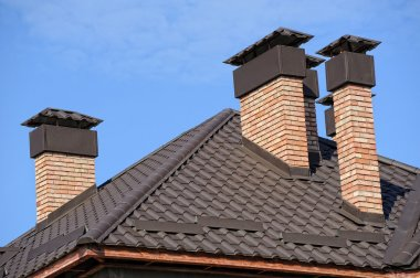 Building a new roof of home stock vector