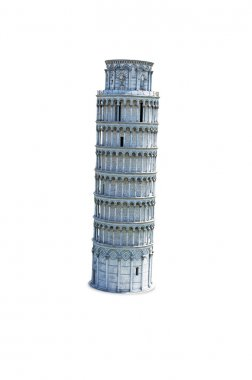 Leaning tower of pisa - white background
