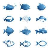 Fotografie Satz von Fisch-Symbole