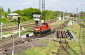 Fotografie Rangierlokomotive auf ein Retarder zum Buckel Hof