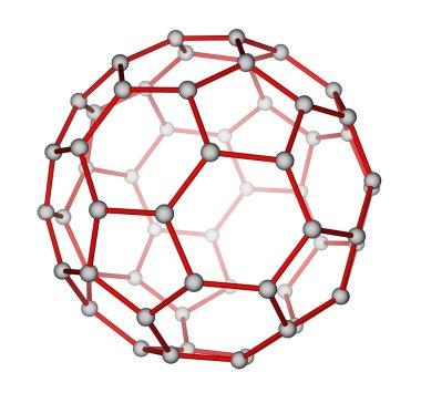 Fullerene C60 molecular structure