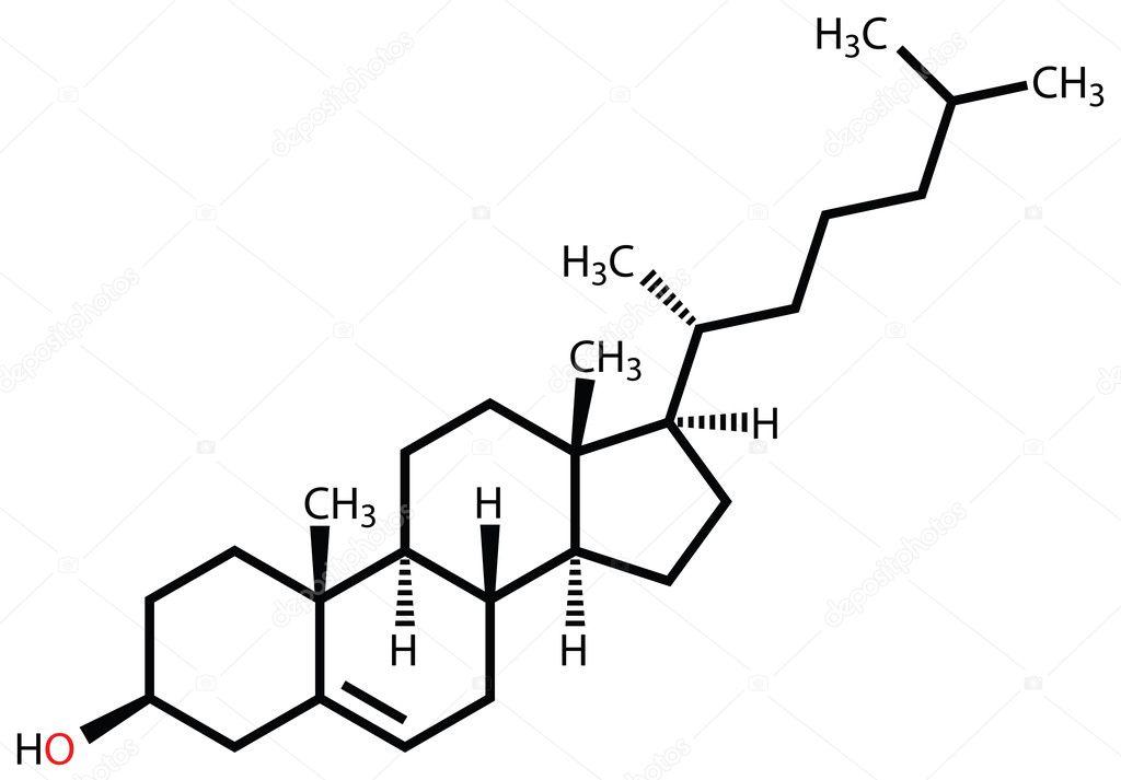 Cholesterol Structural Formula Stock Vector C Leonid Andronov