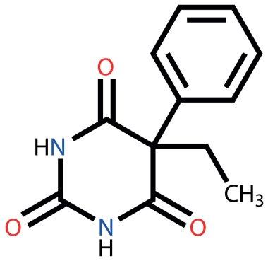 Phenobarbital (epilepsy drug) structural formula