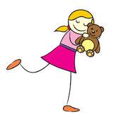 dívka s Medvídek