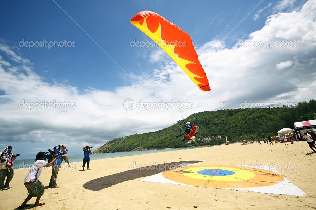 PHUKET, THAILAND - MAY 21: Paragliding Competition, Annual event