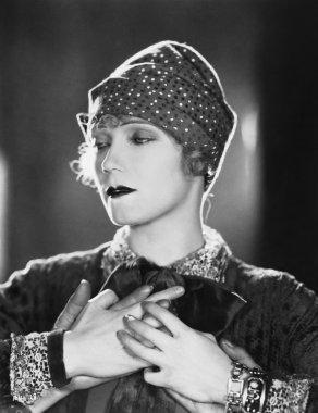 Portrait of woman in trance