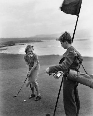 Golfing on the coast