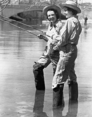 Two women fishing