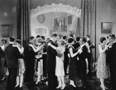 Group of dancing in a ballroom