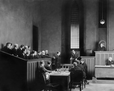 in a courtroom