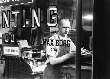 Man working in his store