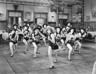 A group of women dancing