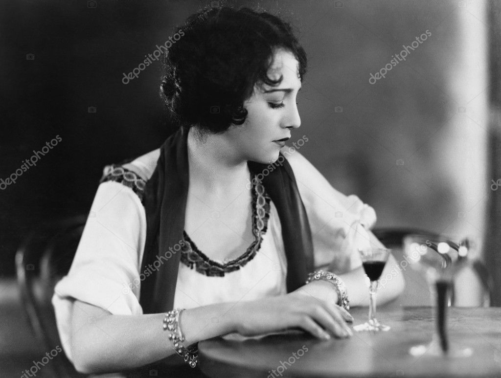 Portrait of woman with drink