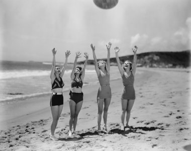 Girls having fun at the beach