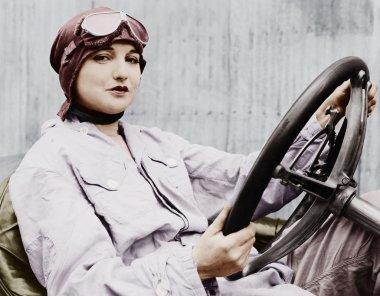 Portrait of female driver