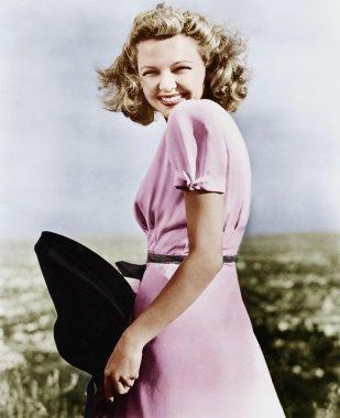 Woman smiling looking vivacious