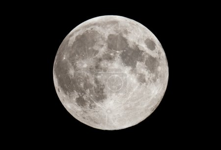 Photo for Full moon on a black sky. Picture taken from the Ukraine - Royalty Free Image