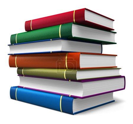 Set of color books